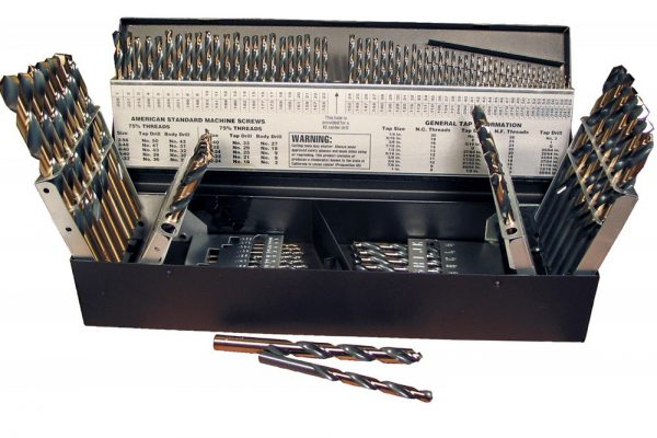 """115 Piece Reaper SetFractional 1/16"""" – ½""""x 64ths, # sizes 1-60 and letter sizes A-Z"""